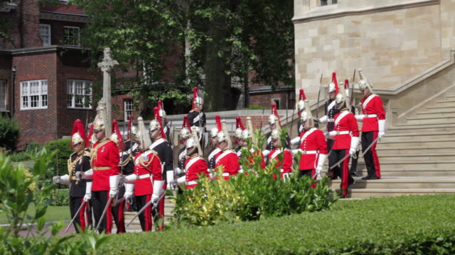 garter day, windsor, uk - st. george's chapel stock videos and b-roll footage