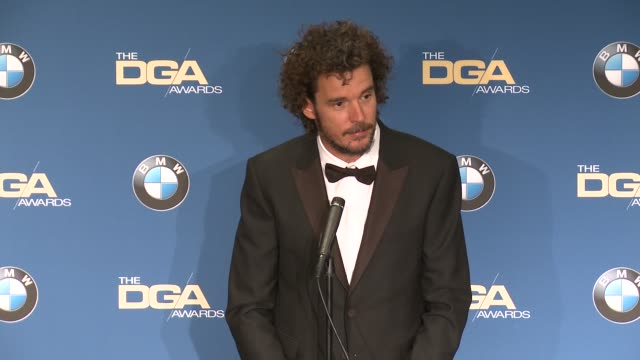 interview garth davis at 69th annual directors guild of america awards in los angeles ca - directors guild of america awards stock videos & royalty-free footage