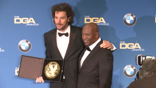 garth davis paris barclay at 69th annual directors guild of america awards in los angeles ca - directors guild of america awards stock videos & royalty-free footage