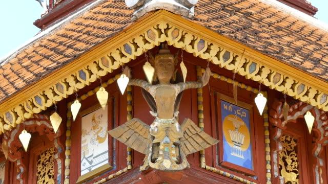ガルーダワットプラドンタオバンコク(タイ)。 - 金箔点の映像素材/bロール
