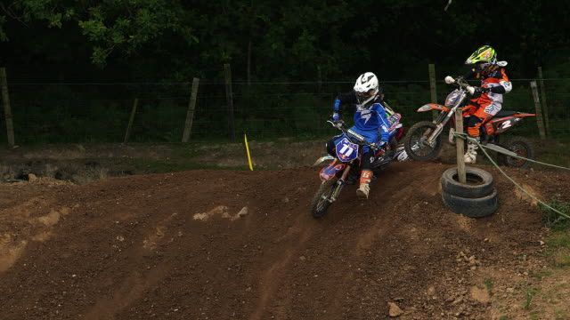 gary ashley jack carpenter others red bull elite youth cup 65cc - whitby north yorkshire england stock videos & royalty-free footage