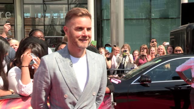 interview gary barlow on the sun and x factor at wembley arena on july 15 2013 in london england - wembley arena stock videos and b-roll footage
