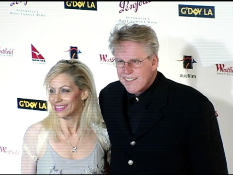 Gary Busey and Vicki Roberts at the G'Day LA Penfolds Black Tie Gala Dinner at the Century Plaza Hotel in Century City California on January 15 2005