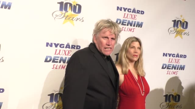 gary busey at the 27th annual night of 100 stars viewing party on february 26, 2017 in beverly hills, california. - ゲーリー ビジー点の映像素材/bロール