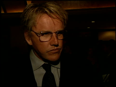 gary busey at the adopt-a-minefield benefit at the century plaza hotel in century city, california on september 18, 2002. - ゲーリー ビジー点の映像素材/bロール