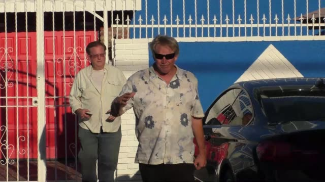 gary busey at the dancing with the stars rehearsal studio in hollywood in celebrity sightings in los angeles, - ゲーリー ビジー点の映像素材/bロール
