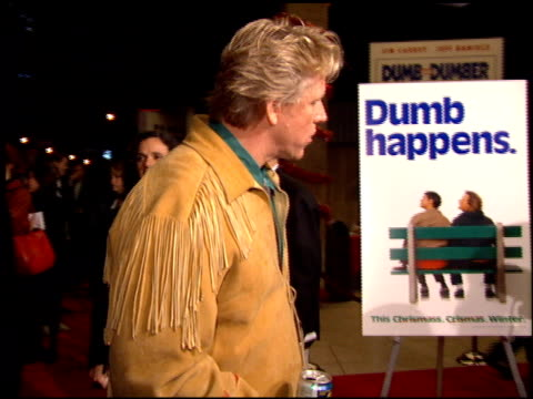 gary busey at the 'dumb and dumber' premiere at the cinerama dome at arclight cinemas in hollywood california on december 6 1994 - arclight cinemas hollywood stock videos and b-roll footage