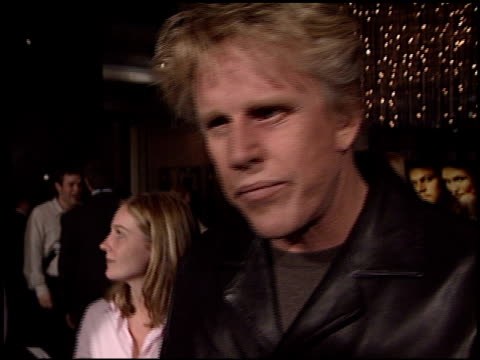 gary busey at the 'gangs of new york' premiere at dga in los angeles, california on december 17, 2002. - ギャング・オブ・ニューヨーク点の映像素材/bロール