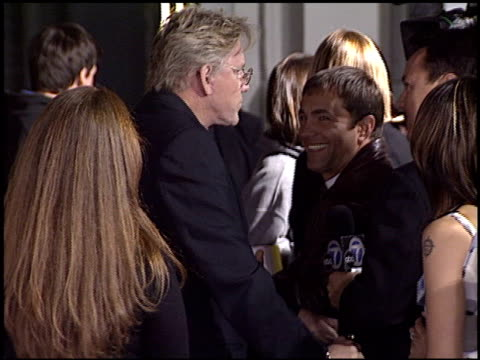 gary busey at the 'identity' premiere at grauman's chinese theatre in hollywood, california on april 23, 2003. - ゲーリー ビジー点の映像素材/bロール