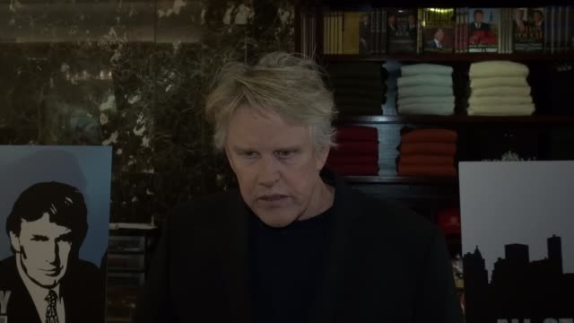 gary busey at trump tower in new york, ny, on 4/30/13. - ゲーリー ビジー点の映像素材/bロール