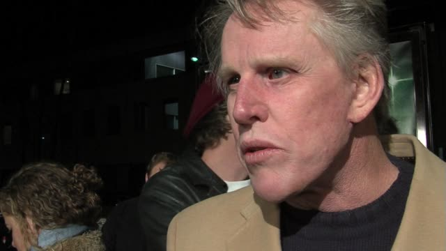 gary busey on why the film is important at the the nativity story premiere arrivals at the academy in los angeles, california on november 28, 2006. - ゲーリー ビジー点の映像素材/bロール
