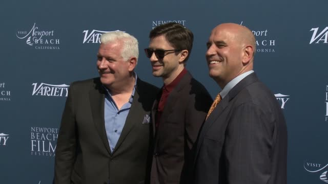 gary c sherwin topher grace and gregg schwenk at newport beach film festival fall honors variety 10 actors to watch at the resort at pelican hill on... - topher grace stock videos & royalty-free footage