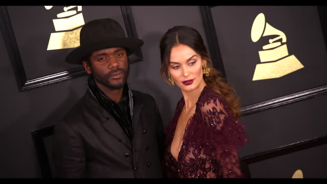 Gary Clark Jr and Nicole Trunfio at the 59th Annual Grammy Awards Arrivals at Staples Center on February 12 2017 in Los Angeles California 4K
