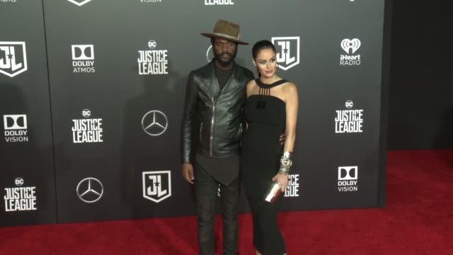 Gary Clark Jr and Nicole Trunfio at the Justice League World Premiere at Dolby Theatre on November 13 2017 in Hollywood California