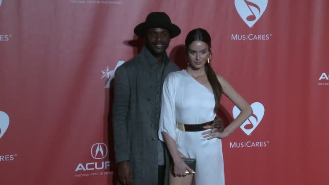 Gary Clark Jr Nicole Trunfio at MusiCares Person of the Year Honoring Tom Petty in Los Angeles CA