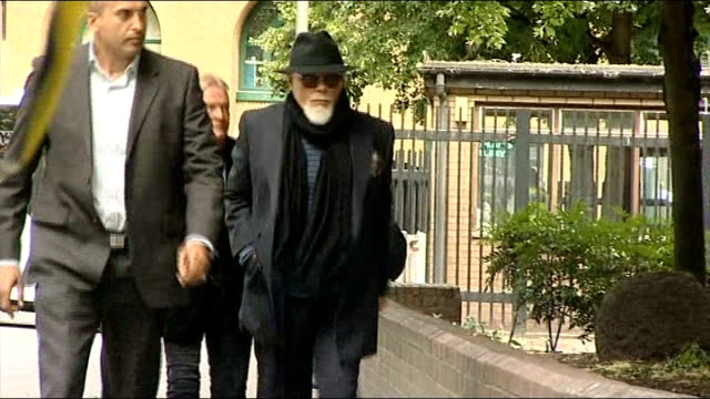 london southwark crown court ext gary glitter along as arrivbing at court - gary glitter stock videos & royalty-free footage