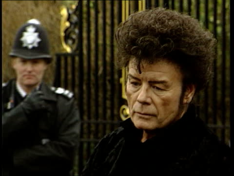 gary glitter deported from cambodia; lib ???: ext cms glitter facing the media after his release from prison after serving a sentence for possessing... - gary glitter stock videos & royalty-free footage