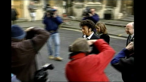 gary glitter found guilty of sex offences against underage girls; 1999 bristol: bristol crown court: glitter getting out of car and along as arriving... - gary glitter stock videos & royalty-free footage