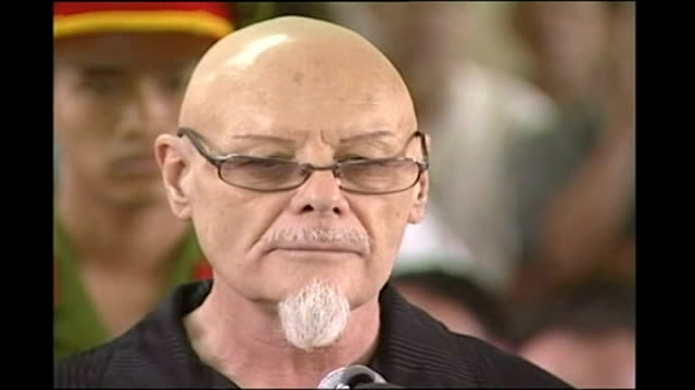gary glitter found guilty of sex offences against underage girls; t03030620 - 3.3.2006 vietnam: vung tau: int ** warning some flash photography ***... - gary glitter stock videos & royalty-free footage