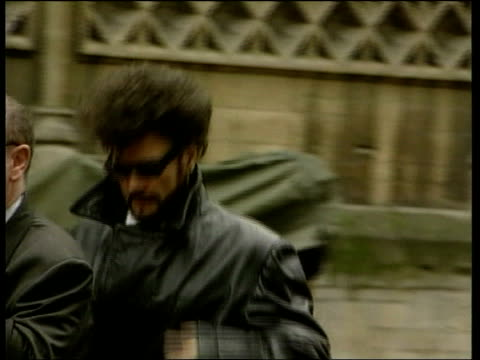 bristol bristol crown court pop star gary glitter with beard from car along on arrival at court order ref bsp210199005 - gary glitter stock videos & royalty-free footage