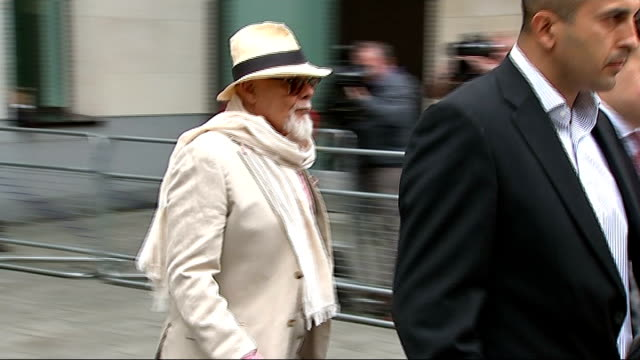 london westminster magistrates' court ext gary glitter leaving court and into black cab - gary glitter stock videos & royalty-free footage