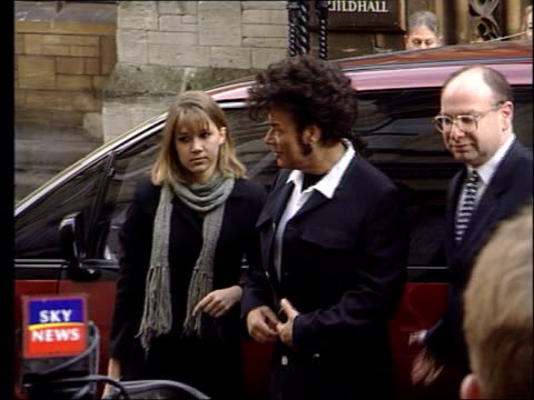 gary glitter questioned by police lib bristol crown court gary glitter real name paul gadd towards from car into court with legal team - gary glitter stock videos & royalty-free footage