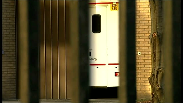 gary glitter sentenced to 16 years various of prison vans arriving at southwark crown court - gary glitter stock videos & royalty-free footage