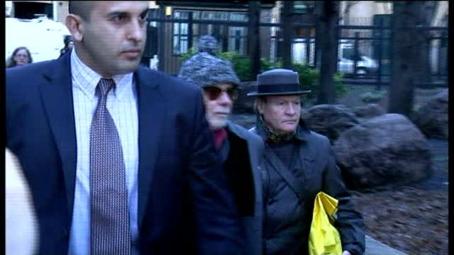 court arrival; england: london: southwark crown court: ext gary glitter along with others and into court - gary glitter stock videos & royalty-free footage
