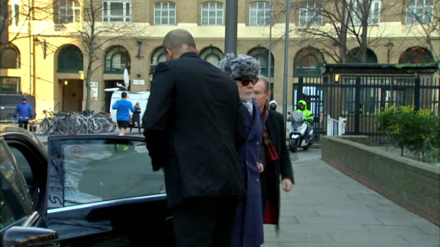court arrival england london southwark crown court photography*** gary glitter arriving at court - gary glitter stock videos & royalty-free footage