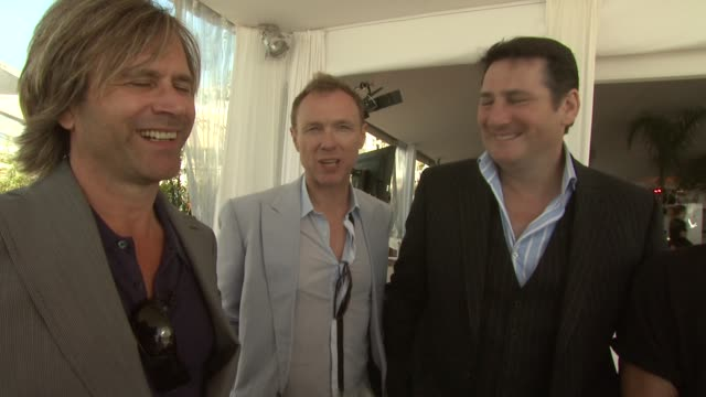 gary kemp, martin kemp, john keeble, tony hadley, steve norman on the 80's revival at the cannes film festival 2009: spandau ballet event at cannes . - revival stock videos & royalty-free footage
