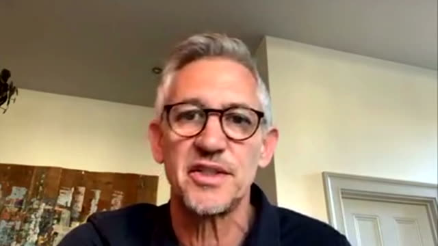 """gary lineker saying the coronavirus crisis is going mean a """"tough time"""" for a lot of smaller football clubs financially - problems stock videos & royalty-free footage"""