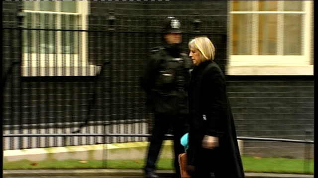 gary mckinnon extradition case delay; downing street: ext theresa may mp along to numebr 10 for cabinet meeting - ニナ・ホサイン点の映像素材/bロール