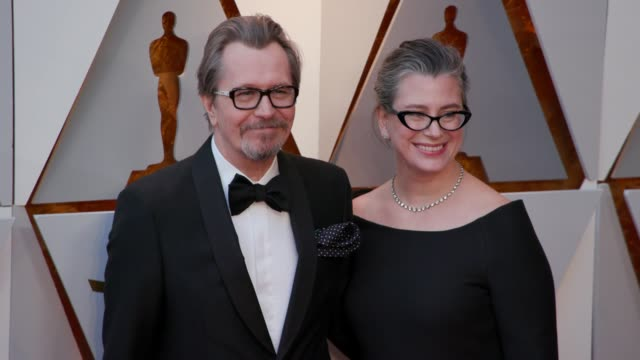 Gary Oldman and Gisele Schmidt at 90th Academy Awards Arrivals at Dolby Theatre on March 04 2018 in Hollywood California