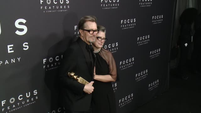 Gary Oldman and Gisele Schmidt at Focus Features 75th Golden Globe Awards AfterParty at The Beverly Hilton Hotel on January 07 2018 in Beverly Hills...