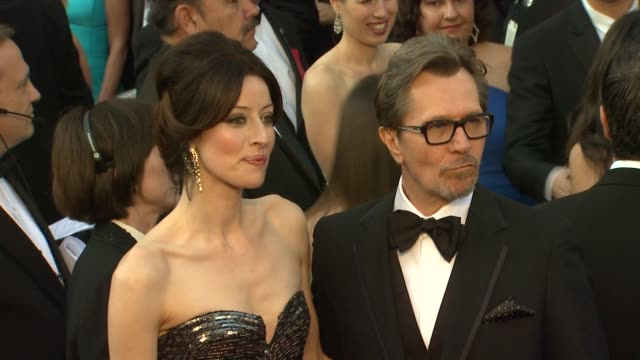 gary oldman at 84th annual academy awards - arrivals on 2/26/12 in hollywood, ca. - gary oldman stock videos & royalty-free footage