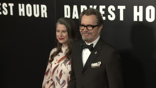 "Gary Oldman at ""Darkest Hour"" Los Angeles Premiere Presented by Focus Features and Working Title in Los Angeles CA"