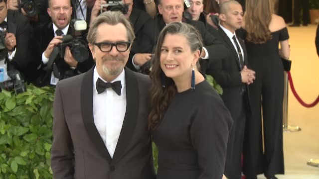 gary oldman at heavenly bodies: fashion & the catholic imagination costume institute gala at the metropolitan museum of art on may 07, 2018 in new... - gary oldman stock videos & royalty-free footage