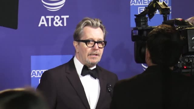 gary oldman at the 30th annual palm springs international film festival awards gala in palm springs in celebrity sightings in palm springs, - gary oldman stock videos & royalty-free footage