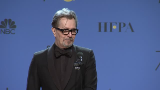 SPEECH Gary Oldman at the 75th Annual Golden Globe Awards Press Room at The Beverly Hilton Hotel on January 07 2018 in Beverly Hills California