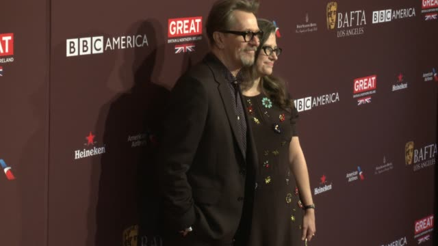 Gary Oldman Gisele Schmidt at 2018 BAFTA Los Angeles Tea Party The Four Seasons Los Angeles at Beverly Hills in Los Angeles CA