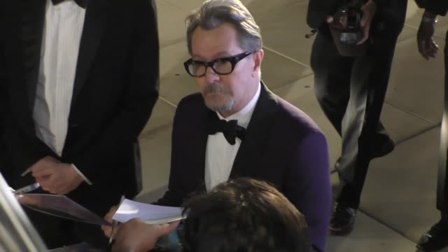 Gary Oldman greets fans at the 29th Annual Palm Springs International Film Festival at Palm Springs Convention Center in Palm Springs in Celebrity...
