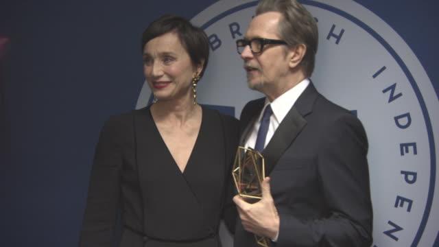 Gary Oldman Kristin Scott Thomas at British Independent Film Awards at Old Billingsgate on December 10 2017 in London England