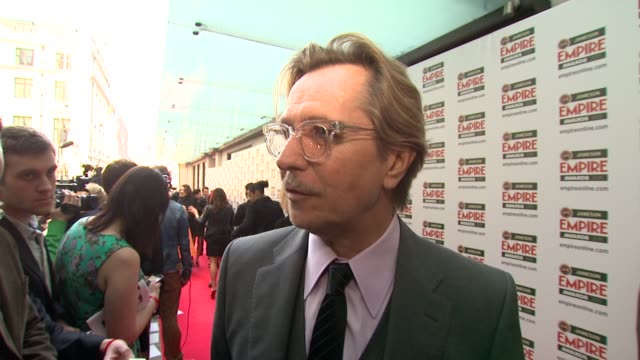 gary oldman on being nominated, the empire awards at the jameson empire awards at london england. - gary oldman stock videos & royalty-free footage