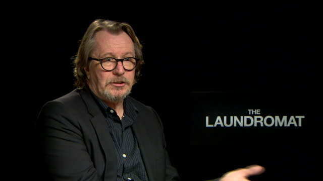 gary oldman, on not understanding his taxes despite the system at 'laundromat' interview - 76th venice film festival on september 01, 2019 in venice,... - gary oldman stock videos & royalty-free footage