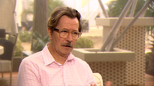 Gary Oldman on the style of the film at the Tinker Tailor Soldier Spy Interview Venice Film Festival 2011 at Venice