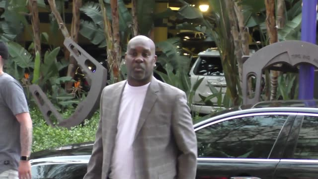 Gary Payton arriving to see Kobe Bryant's final game at Staples Center in Los Angeles Celebrity Sightings on April 13 2016 in Los Angeles California