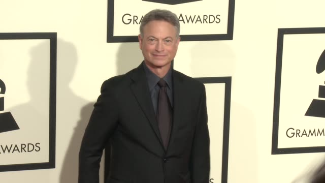 stockvideo's en b-roll-footage met gary sinise at the 58th annual grammy awards® arrivals at staples center on february 15 2016 in los angeles california - 58e grammy awards