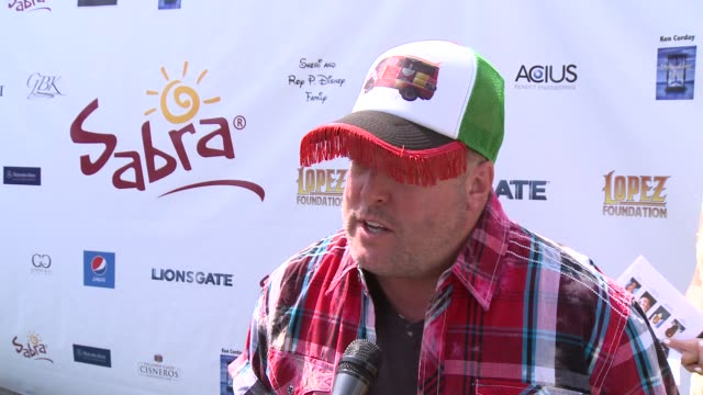 INTERVIEW Gary Valentine on his hat at The 7th Annual George Lopez Celebrity Golf Classic Presented By Sabra Salsa at Lakeside Golf Club on May 05...