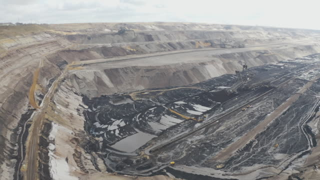 garzweiler lignite mine and manheim village in nordrheinwestfalen germany on tuesday mar 3 2020 - film montage stock videos & royalty-free footage