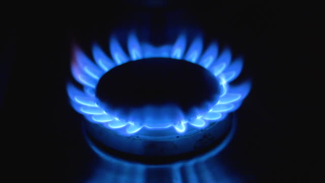 gas cooker hob flame - gas stock videos & royalty-free footage